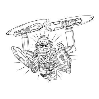 ausmalbilder nexo knights steinmonster
