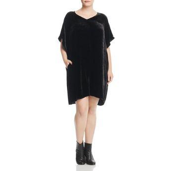 Plus Size Eileen Fisher Womens Plus Velvet V-Neck Cocktail Dress db721bef3