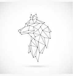 Geometric wolf silhouette vector