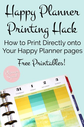 Happy Planner Printing Hack