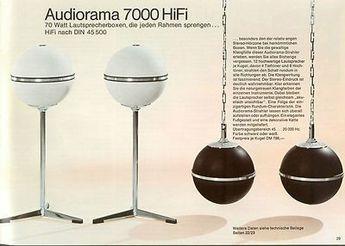 Grundig Audiorama 8000 Ball Speakers Eames era Space Age Speakers Atomic Era