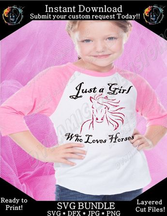 Excited to share this item from my #etsy shop: Just a girl who loves horses SVG, Graphic Tee, Horse Tee, Horse Shirt, Cute Horse Tee, Womens Tee, Farm Girl, Raglan Shirt, Raglan Tee