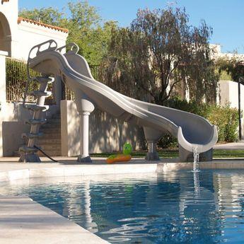 Inter-Fab Adrenaline Pool Slide, Right Turn, Desert Tan