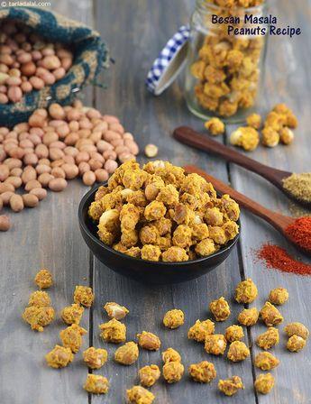 Besan Masala Peanuts, Microwave Besan Masala Groundnut