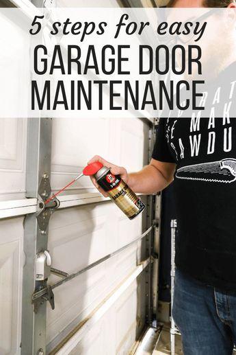 Tips for easy garage door maintenance - how to take care of your garage door and fix a squeaky garage door