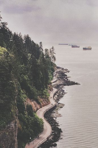 The seawall in Stanley Park, Vancouver is a six mile long amazing walk or bike ride. Bike rentals are easily available for the best afternoon in the middle of the city.   Pin curated by @Poppytalk for @explorecanada
