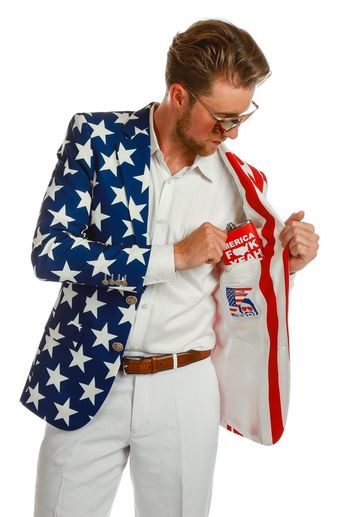 0776bd979a0e The New and Improved Tommy J American Flag Blazer - Shinest