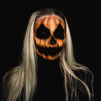 50+ Pretty Scary Halloween Pumpkin Makeup Ideas