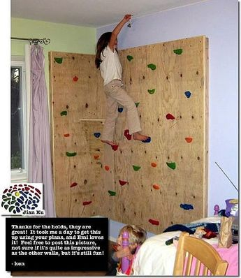 How to Build a Kids' Rock Climbing Wall