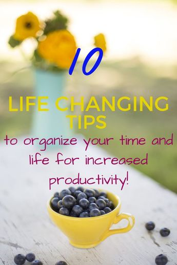 Increase your productivity and time management with these 10 tips for organizing your week! Use these simple productivity hacks to change your life now! Become a time management and organizational boss!   #productivity #productivityhacks #organization #goalsetting #timemanagement