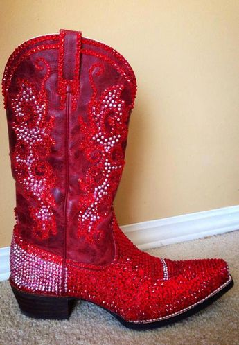 0567f23ef8f A gorgeous pair of BLINGED cowboy boots submitted to us by a Facebook fan!  LOVE