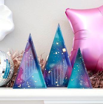 Galaxy Acrylic Triangles