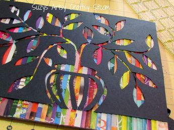 Recycled Crafts- Cut Paper Art from recycled magazines!