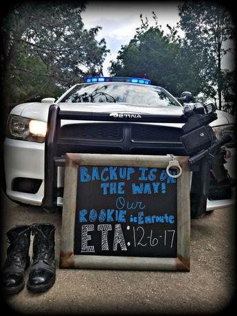 Law enforcement pregnancy announcement