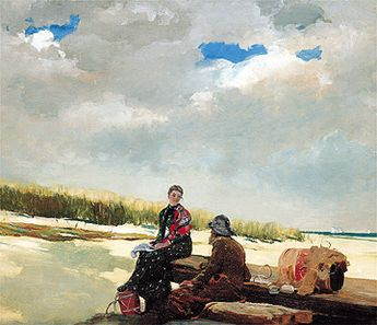 detail: Cloud Shadows by Winslow Homer - discussion questions included with this link to Spencer Museum of Art