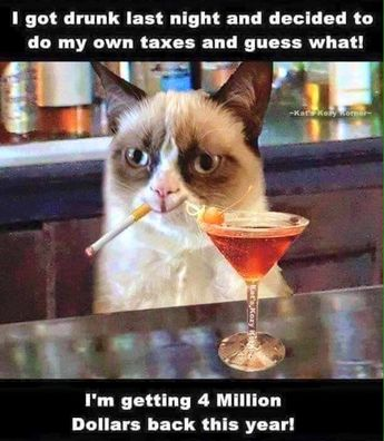 Tax mistakes, breaks and post-filing drinks!