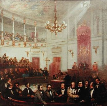 Escena congreso de los diputados siglo XIX Eugenio Lucas Velázquez - Congreso de los Diputados - Wikipedia, la enciclopedia libre