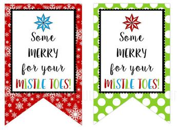 For Your Mistletoes Gift Tags, Printable Nail Polish gift tags, Manicure Gift Tags, Christmas Gift Tags by SUNSHINETULIPDESIGN