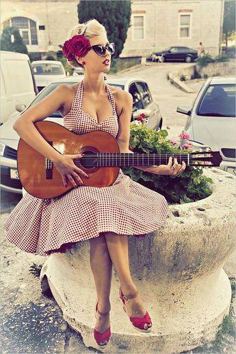 Red Gingham Dress Vintage Gingham Dress Vintage Dress Pin Up Dress Summer Dress 50s Rockabilly dress Retro Swing Party Dress Beach Dress