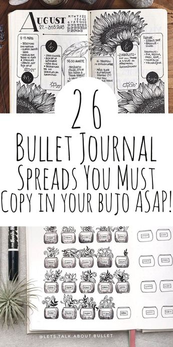 26 Bullet Journal Spreads You NEED To Try!