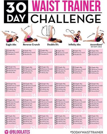 30 Day Waist Training Challenge