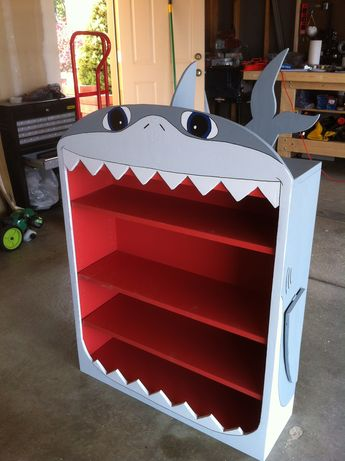 Shark Book Shelf. This would be great in Dylan's room! The Story Between Us