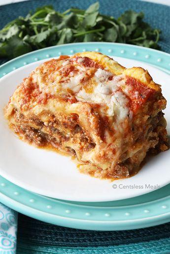 Cheesy Crock Pot Lasagna recipe