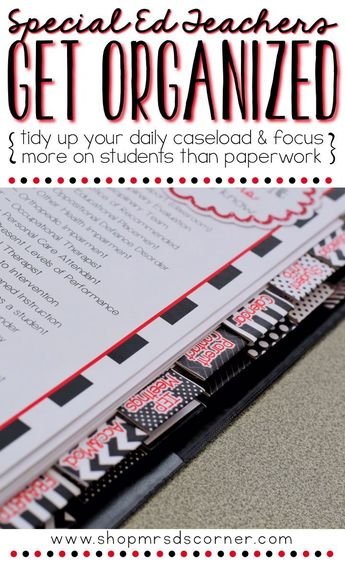 The Ultimate Special Education Binder - Black White Red {editable} IEP Binder