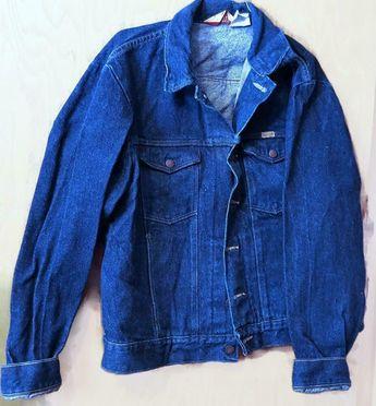 a9b1bd56 Details about Vintage Mens Large Rustler Denim Blue Jean Jacket