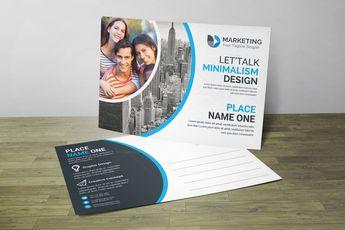 PSD Minimal Postcard Design 002852 - Template Catalog