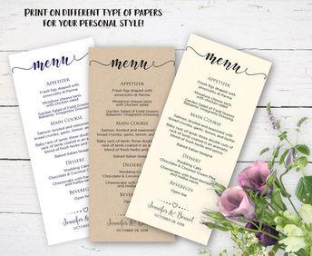 wedding menu card rustic wedding menu cards kraft