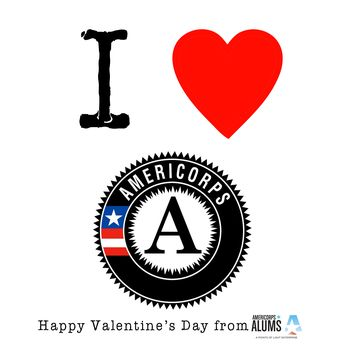 Happy #Valentines Day! We Love #AmeriCorps and #NationalService and we hope you do, too!