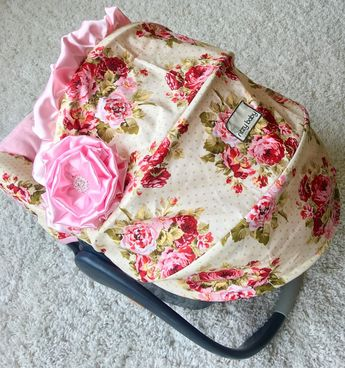 Rambling Roses Custom Infant Car Seat Cover