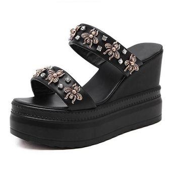 High Heels bee Woman Gladiator Sandals #highheelssandals