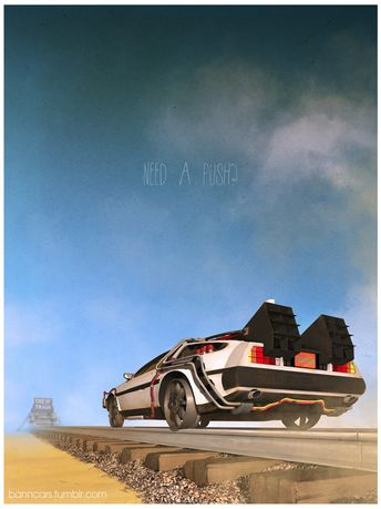 Iconic film and tv vehicule art by Nicolas Bannister : Retour vers le futur III www.facebook.com/banncars