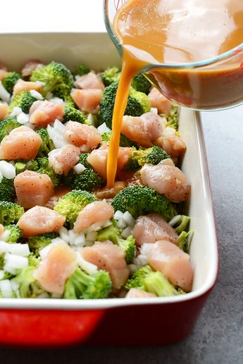 Skinny Orange Chicken Casserole - With just a few simple ingredients and a casserole dish you can have a dinner packed with veggies, protein, and whole grains, in just 60 minutes!