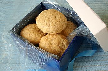 Eggless Almond and Chocolate filled Butter Cookies