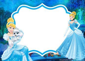 Printable Cinderella Birthday Party Invitation