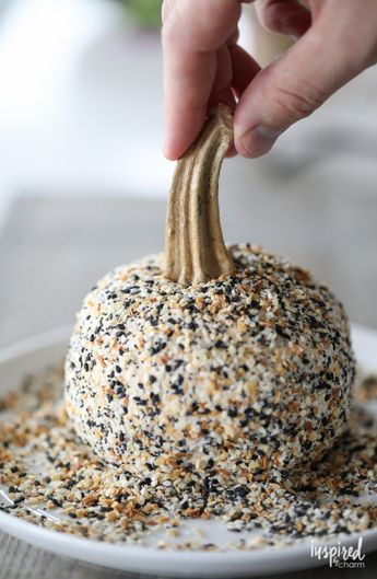 Everything Bagel Cheeseball and Sun-Dried Tomato Cheeseball - Inspired by Charm