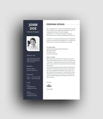 PSD Elegant Professional Resume Template - Graphic Templates