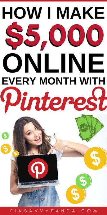 How To Make Money From Home With Pinterest (How I Make $5,000+ Per Month Online)