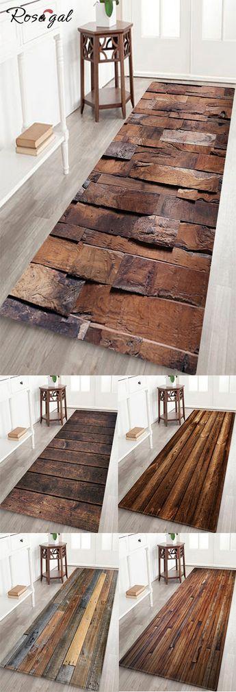 Tapis de bain avec motif bois #Rosegal #maison #décoration #tapis