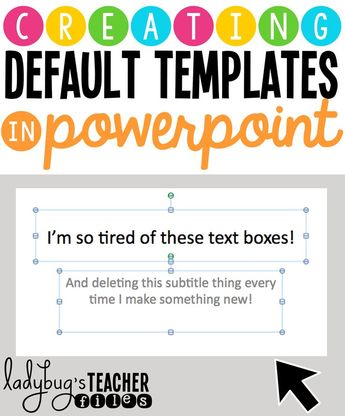 Creating Default Templates in Powerpoint