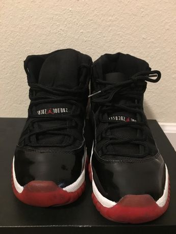 Air Jordan 11 Bred Size 10 Black Red BRED (Used) 2008 release.   453bd376a