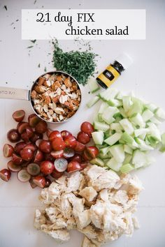 21 Day Fix Chicken Salad Recipe | Andrea LeBeau Blog | #lunch #21dayfix #recipe #healthy #weightloss