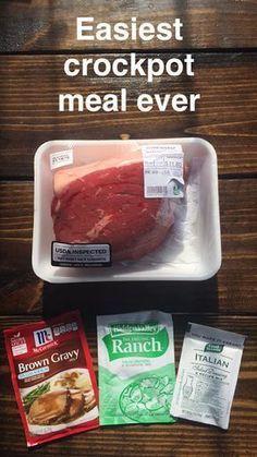CROCKPOT BEEF ROAST - DINNER