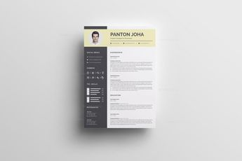 First Class Curriculum Vitae Template - Graphic Templates