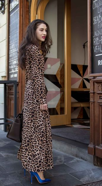 082b9b88077a Fashion Blogger Veronika Lipar of Brunette from Wall Street sharing how to  style long leopard print