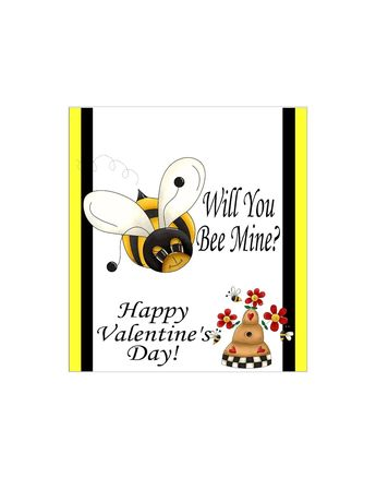 Will You Bee Mine Valentine Candy Bar Wrapper | DIY Party Mom