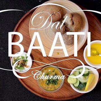 Rajasthani Dal Baati Churma Recipe   Authentic Dal Bati Churma Recipe Video   दाल बाटी चूरमा